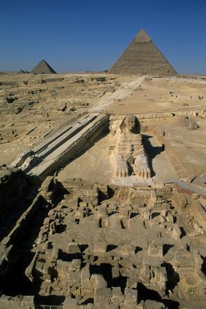 The Sphinx and the Pyramids of Giza