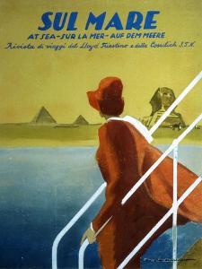 Cover of Publicity Magazine for Lloyd Triestino Shipping Line Sul Mare, 1931 by Marcello Dudovich
