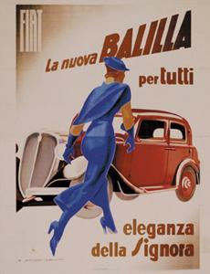 Fiat Balilla, c.1934 by Marcello Dudovich