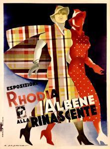 La Rinascente, Esposizione Rhodia Albene by Marcello Dudovich