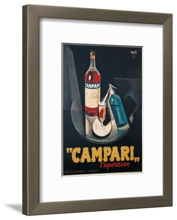 Poster Advertising Campari l'aperitivo