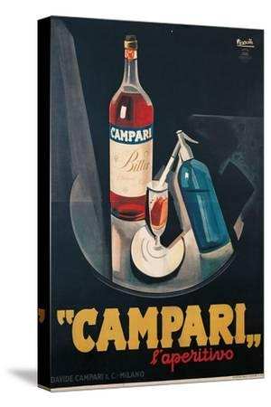 Poster Advertising Campari Laperitivo