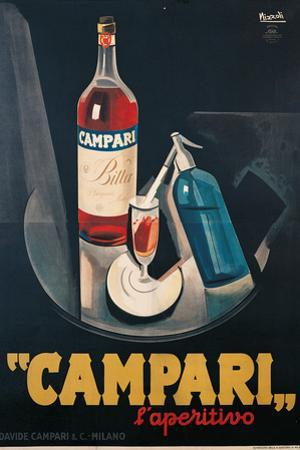 Poster Advertising Campari Laperitivo by Marcello Nizzoli