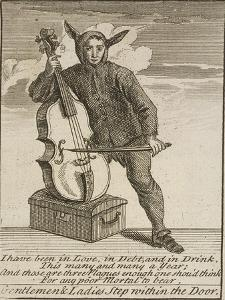 A Street Musician Dressed in Costume, Cries of London, C1688 by Marcellus Laroon