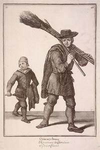 Chimney Sweep, Cries of London by Marcellus Laroon