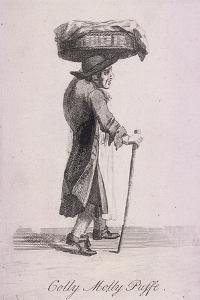 Colly Molly Puffe, Cries of London, C1688 by Marcellus Laroon