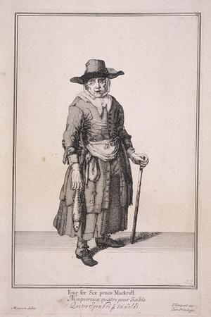 Four for Six Pence Mackrell, Cries of London, (1688)