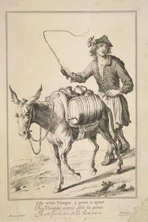 Lilly White Vinegar 3 Pence a Quart, Cries of London, (1688)
