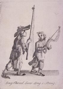 Long Threed Laces Long and Strong, Cries of London, C1688 by Marcellus Laroon