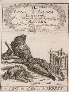 Title Page to Cries of London by Marcellus Laroon