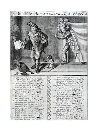 The Infallible Mountebank or Quack Doctor, 1688-1705