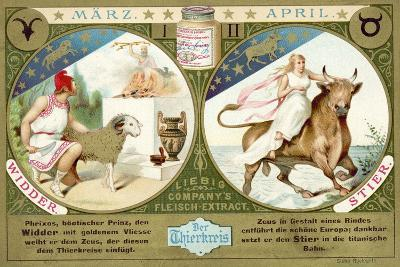 March and April: Aries and Taurus--Giclee Print