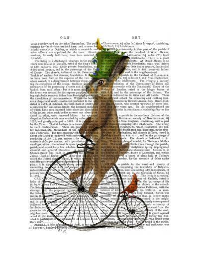 March Hare on Penny Farthing-Fab Funky-Art Print