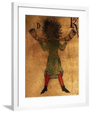 March, Miniature from the Martyrology of Adonis, Manuscript, Italy, 12th Century--Framed Giclee Print