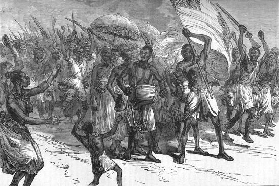 'March of Ashantee Warriors', c1880-Unknown-Giclee Print