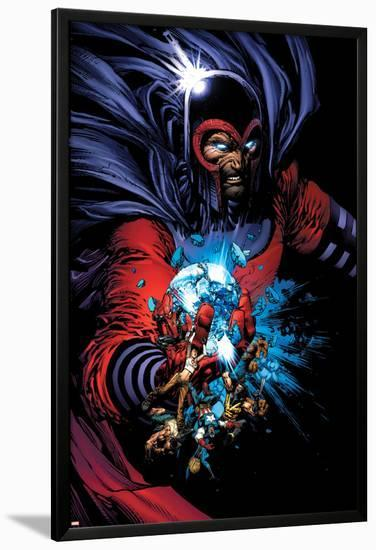 March On Ultimatum Saga Cover: Magneto-David Finch-Lamina Framed Poster