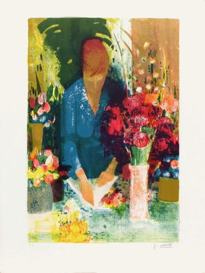 Marchande de Fleurs-Paul Collomb-Collectable Print