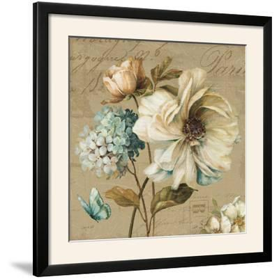Marche de Fleurs Blue II-Lisa Audit-Framed Photographic Print