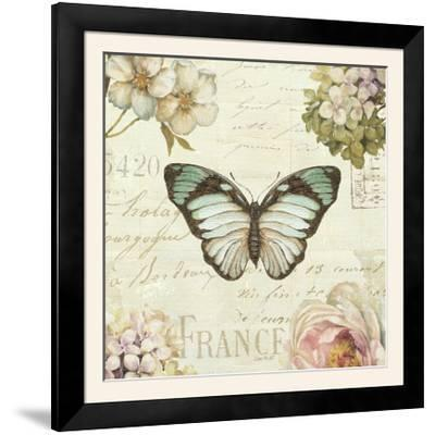 Marche de Fleurs Butterfly II-Lisa Audit-Framed Photographic Print