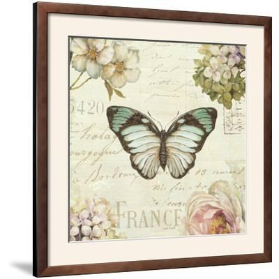 Marche de Fleurs Butterfly II-Lisa Audit-Framed Photographic Print