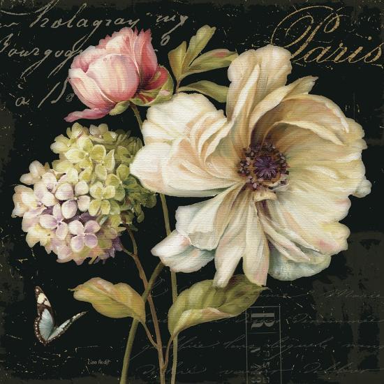 Marche de Fleurs on Black II-Lisa Audit-Premium Giclee Print