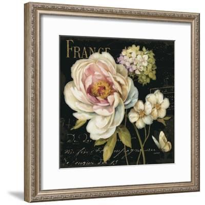 Marche de Fleurs on Black-Lisa Audit-Framed Art Print