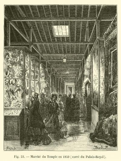 Marche Du Temple En 1840, Carre Du Palais-Royal--Giclee Print
