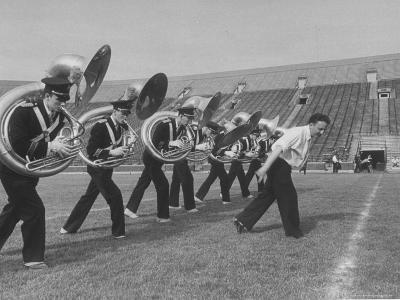 Marching Band Going Through Their Routines During Bands of America-Alfred Eisenstaedt-Photographic Print