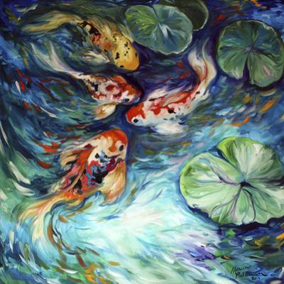 Dancing Colors Koi by Marcia Baldwin