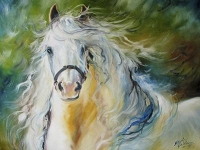 White Cloud the Andlusian Stallion by Marcia Baldwin