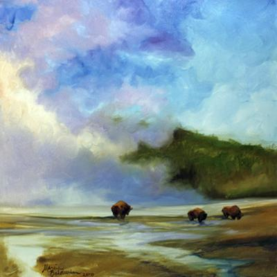 Yellowstone Buffalo Landscape by Marcia Baldwin