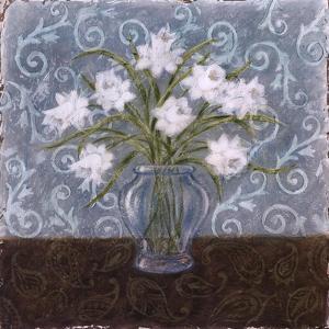 White And Paisley I by Marcia Rahmana