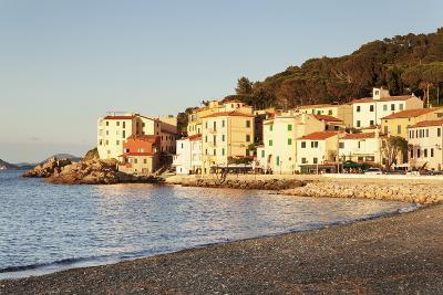 Marciana Marina at Sunset, Island of Elba, Livorno Province, Tuscany, Italy-Markus Lange-Photographic Print