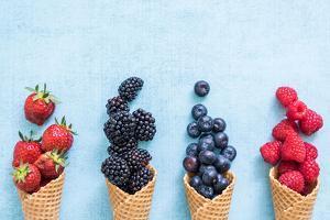 Waffle with Fresh Berries, Homemade Ice Cream Making by Marcin Jucha
