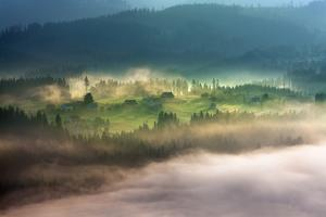 On a Mountain Glade by Marcin Sobas