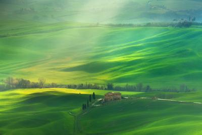 Rainy Val D'Orcia by Marcin Sobas