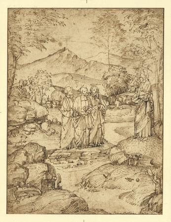 Christ Taking Leave of the Disciples Peter, James, and John