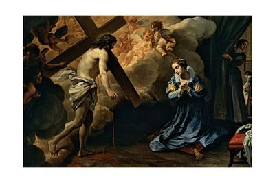 Jesus Christ Appears to St. Catherine, Marco Benefial, 18th c. National Gallery, Ancient Art, Rome