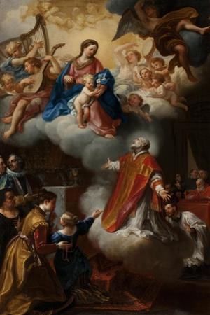 The Vision of St. Philip Neri, 1721 by Marco Benefial