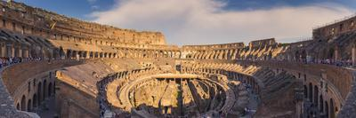 Rome, Lazio, Italy. Inside the Colosseum at Sunset.