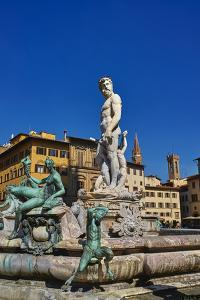 Fountain of Neptune by Bartolomeo Ammannati in Piazza della Signoria, Florence, UNESCO World Herita by Marco Brivio