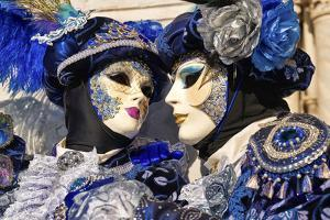 Masks at the Venice Carnival in St. Mark's Square, Venice, Veneto, Italy, Europe by Marco Brivio