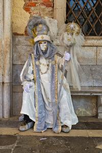 Masks at the Venice Carnival in St. Mark's Square, Venice, Veneto, Italy, Europe by Marco Brivio