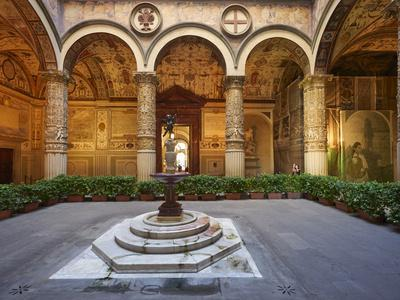 The courtyard of Palazzo Vecchio (Old Palace), Florence, Tuscany, Italy, Europe