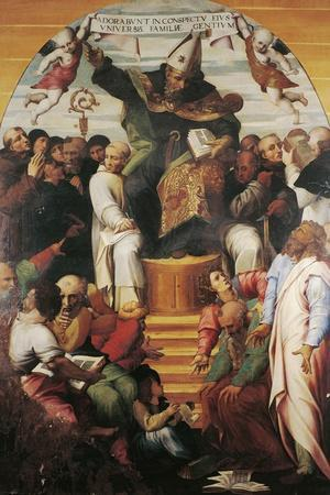 St Augustine in Glory Disputing with Heretics