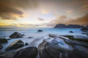 Uttakleiv Beach Before Sunset by Marco Carmassi
