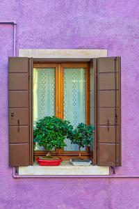 Violet Window in Venice by Marco Carmassi
