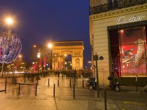 Cartier Store, Champs Elysees, and Arc De Triomphe, Paris, France, Europe by Marco Cristofori