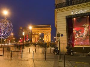 Cartier Store, Champs Elysees, and Arc De Triomphe, Paris, France, Europe by Marco Cristofori