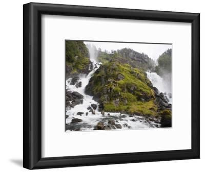 Latefoss Waterfalls, Odda, Hordaland, Norway, Scandinavia, Europe